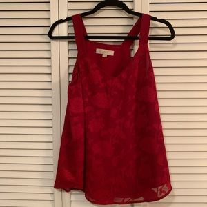 Red Tank Blouse